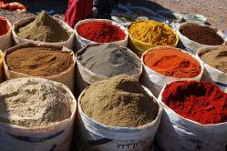 Epices aux souks de marrakech